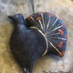 Black Fancy Turkey Ornament Design by Tish Bachleda