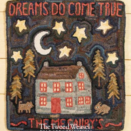 Dreams Do Come GTrue Hooked rug Design by Tish Bachleda