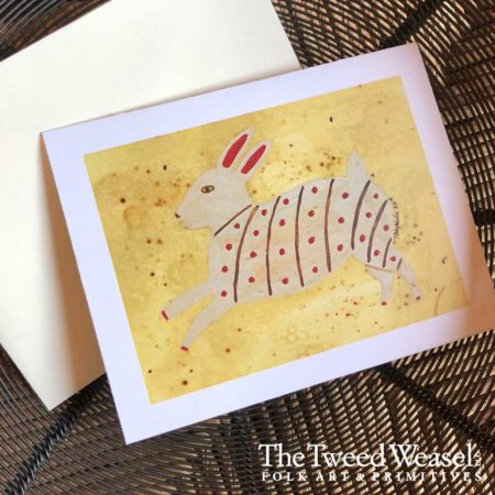 Fraktur Rabbit Artisan Card Design by Tish and Mike Bachleda
