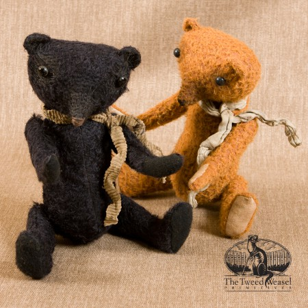 Gus Bear and Coriander Bear by The Tweed Weasel - Dec 2015