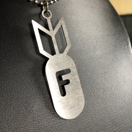 F-Bomb Stainless Steel Dogtag Necklace Design