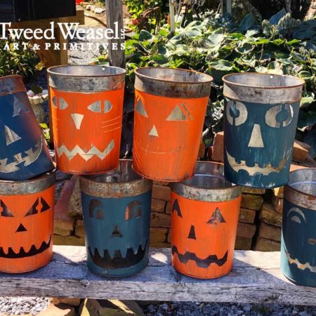 Maple Sap Bucket Jack-o-Lanterns Designed by Tish and Mike Bachleda