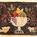 Abundance hooked rug design by Tish Bachleda