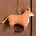 Amish Fox Ornament design by Tish Bachleda