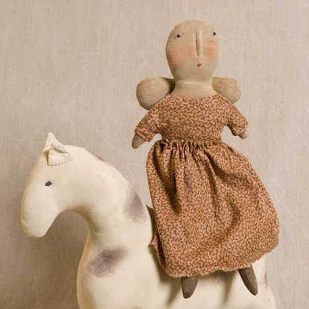Angel on Spotted Pony doll design by Tish Bachleda