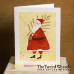 Feather Tree Santa Artisan Card design by Tish and Mike Bachleda
