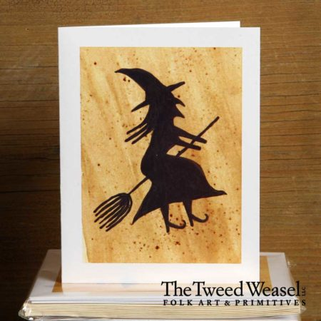 Flying Witch Artisan Card Design by Tish and Mike Bachledae