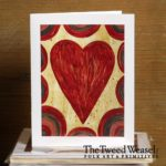 Heart and Scallops Artisan Card Design by Tish and Mike Bachleda