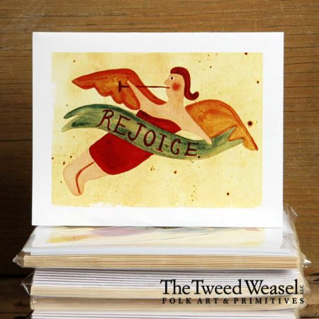Rejoice Angel Artisan Card Design by Tish and Mike Bachleda