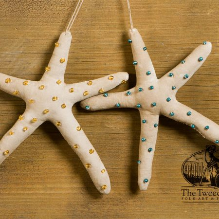 Beaded Starfish ornament designed by Tish Bachleda