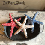Red White and Blue Beaded Starfish Ornaments Design by Tish Bachleda