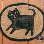 Black Cat Chair Pad design by Tish Bachleda