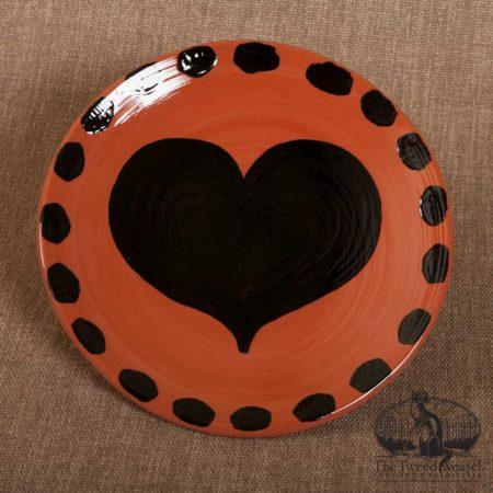 Blackheart Redware Plate design by Bachleda Tulipware