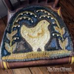Chicken Lily Hooked Rug Design by Tish Bachleda