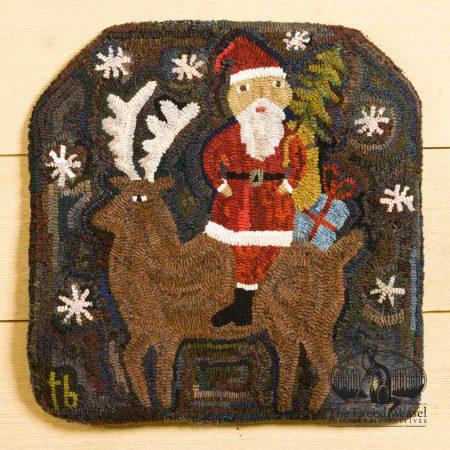Christmas Eve - Hooked rug design by Tish Bachleda