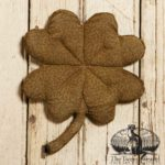 Medium Sized Printed Fabric Clover Design by Tish Bachleda