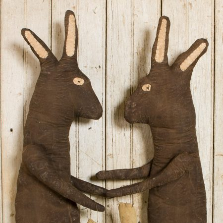 Dark chocolate rabbit with egg doll designed by Tish Bachleda
