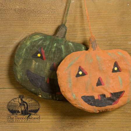 Flat Jack pumpkin design ornaments by Tish Bachleda