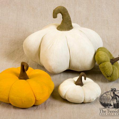 Flattened pumpkins designed by Tish Bachleda