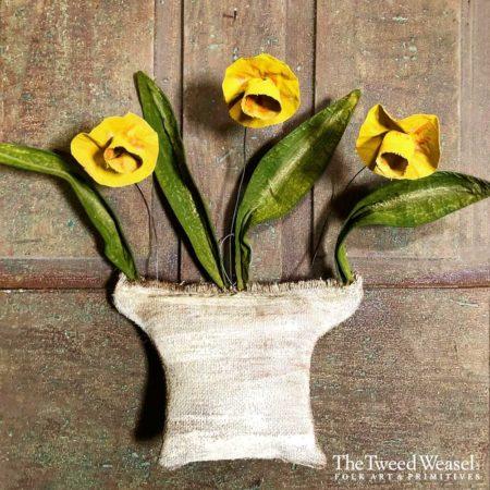 Flower Basket Trio Daffodil design by Tish Bachleda