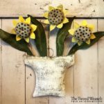 Flower Basket Trio Sunflower design by Tish Bachleda