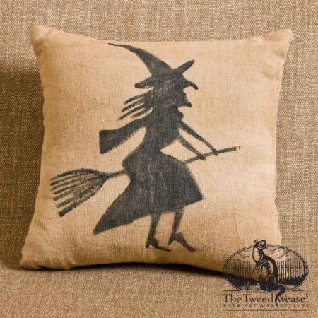 Flying Witch Pillow Design by Tish Bachleda