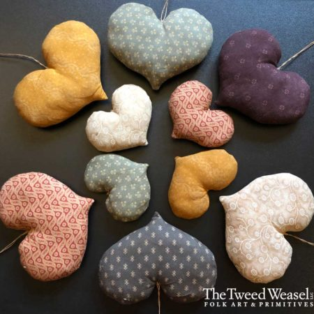 Folky Heart Ornaments Designed by Tish Bachleda