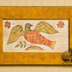 Fraktur Eagle Watercolor painted and signed by Tish Bachleda