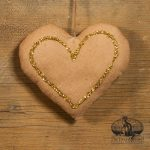 Gold Glitter Heart Ornament designed by Tish Bachleda