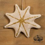 Gold Glitter Star Ornament designed by Tish Bachleda