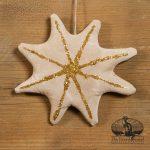 Gold Glitter Star Ornament designed by Tish Bachleda