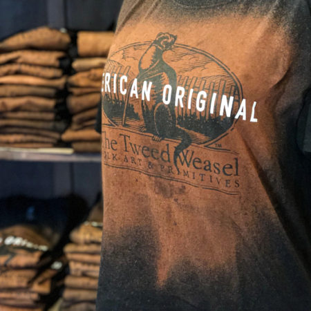 Rust and Black Grunge T-Shirt with words American Original on front