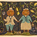 Harvest Gothic - hooked rug design by Tish Bachleda