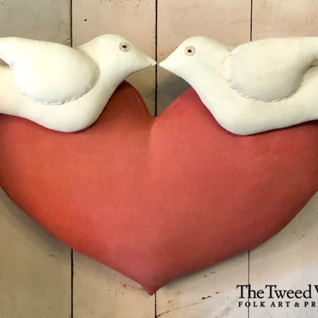 Heart and Doves Folkart Design by Tish Bachleda