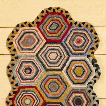 Hexagon Rug design by Tish Bachleda