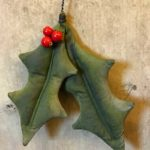 Holiday Holly Ornament Design by Tish Bachleda