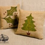 Christmas Tree and Holly Pillow Designs by Tish Bachleda