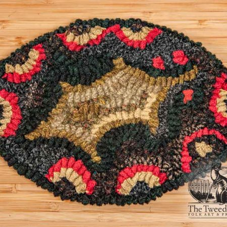 Holly with Clamshells Extra Large Oval Coaster design by Tish Bachleda