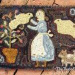 In Her Garden Hooked Rug Design by Tish Bachleda