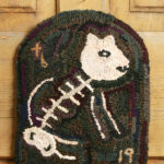 Kitty Skeleton Hooked Rug Design by Tish Bachleda