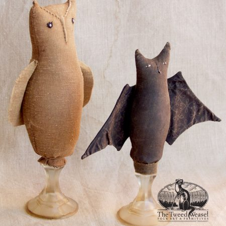 Make-Do Owl and Bat designs by Tish Bachleda