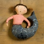 Mermaid with Curled Tail ornament designed by Tish Bachleda