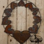 Rusted Steel Hearts Wreath design by Tish Bachleda