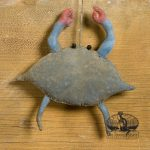 mini blue crab ornament design by Tish Bachleda