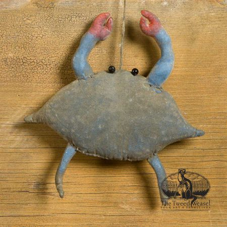 mini blue crab ornament design by Tish Bachleda