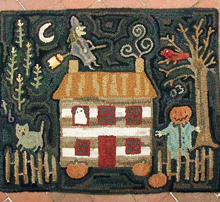 October rug designed and hooked by Tish Bachleda