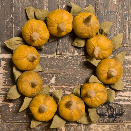 Timeless-Orange-Pumpkins-Wreath designed by Tish Bachleda