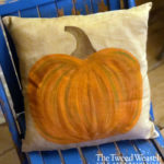 Painted Pumpkin Pillow Design by Tish Bachleda