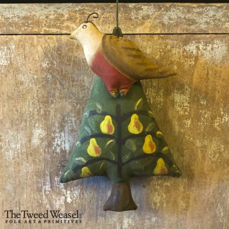 12 Days of Christmas Partridge in a Pear Tree Ornament Design by Tish Bachleda