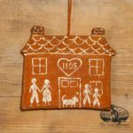 Personalized Gingerbread House Ornament design by Tish Bachleda